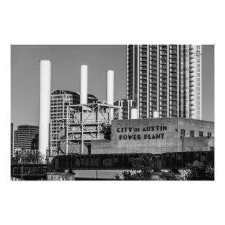 City of Austin Power Plant Photo Print