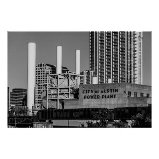City of Austin Power Plant Print