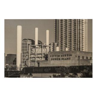 City of Austin Power Plant Wood Wall Art