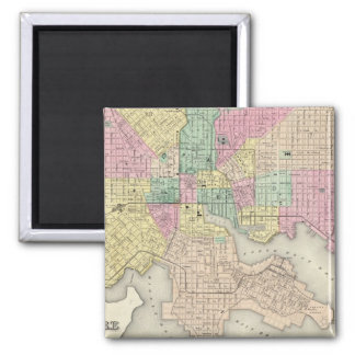 City Of Baltimore Maryland 2 Inch Square Magnet
