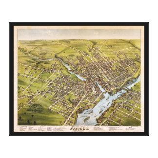 City of Bangor Penobscot County Maine (1875) Canvas Print