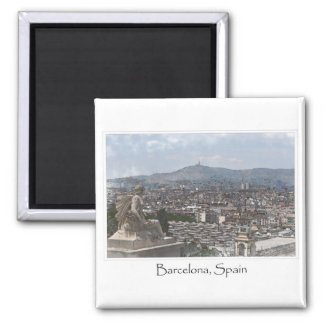 City of Barcelona Spain Cityscape Magnets