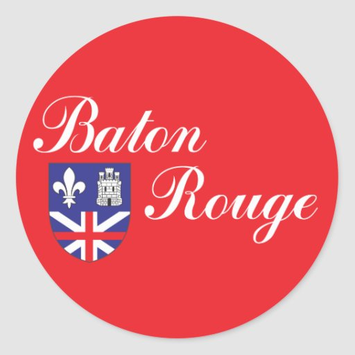 City of baton rouge flag classic round sticker zazzle - Stickers rouge cuisine ...