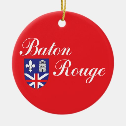 City of Baton Rouge flag Christmas Tree Ornaments