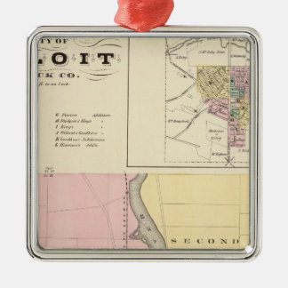 City of Beloit, Rock Co and Shullsburg Christmas Ornament
