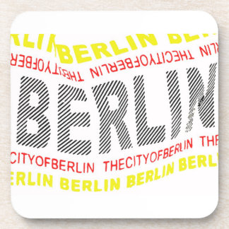 City of Berlin Logo/Memento (1) Beverage Coaster