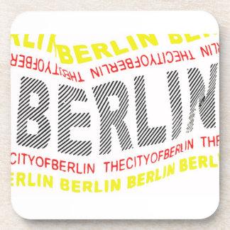 City of Berlin Logo/Memento (1) Beverage Coaster