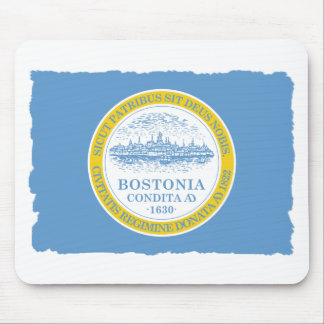 City of Boston Flag Mouse Pad