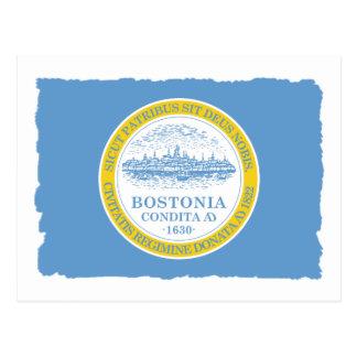 City of Boston Flag Postcard