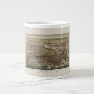 City of Boston Massachusetts 1873 Large Coffee Mug