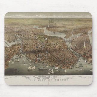 City of Boston Massachusetts 1873 Mouse Pad