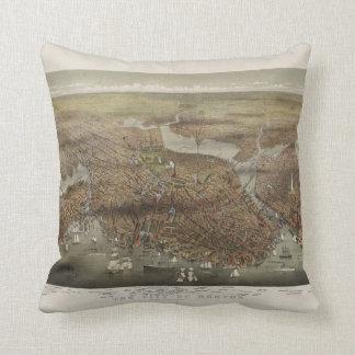 City of Boston Massachusetts 1873 Throw Pillow