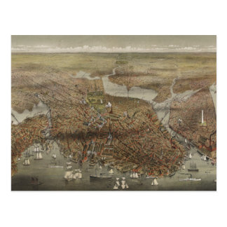 City of Boston Massachusetts 1873 Postcard