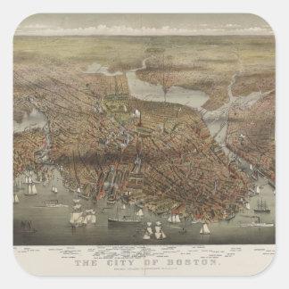 City of Boston Massachusetts 1873 Square Sticker