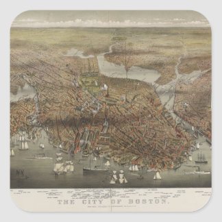City of Boston Massachusetts 1873 Sticker