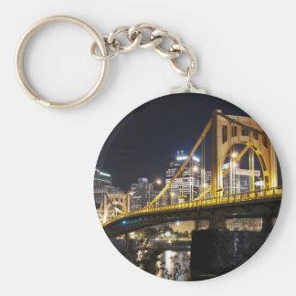 City of Bridges Basic Round Button Keychain