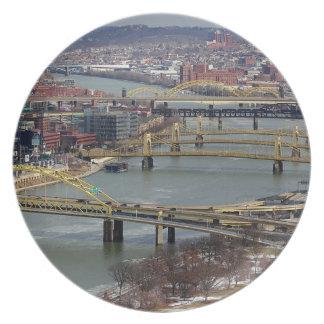 City of Bridges Dinner Plate
