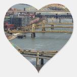 City of Bridges Heart Sticker