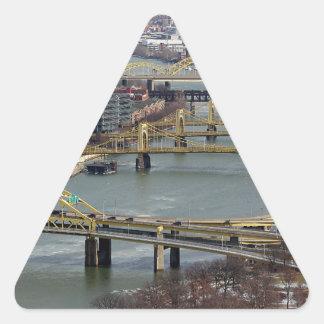 City of Bridges Triangle Sticker