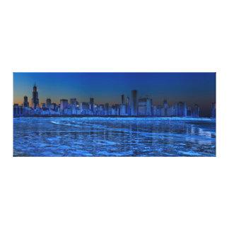 City of broad shoulders and lake Michigan Canvas Prints