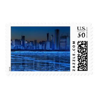 City of broad shoulders and lake Michigan Postage