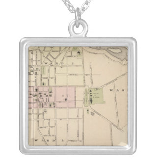 City of Burlington in Vermont Silver Plated Necklace