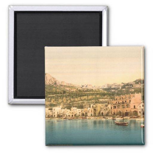 City of Capri, Island of Capri, Campania, Italy 2 Inch Square Magnet
