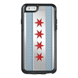 City of Chicago Flag Brushed Metal Look OtterBox iPhone 6/6s Case
