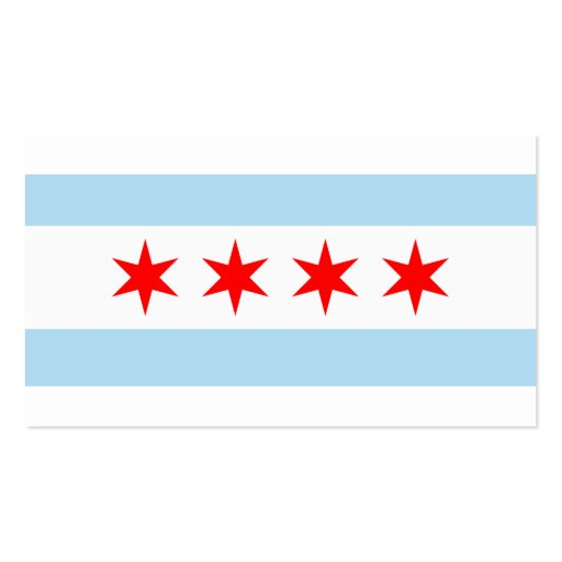 City of Chicago Flag Double Sided Standard Business Cards