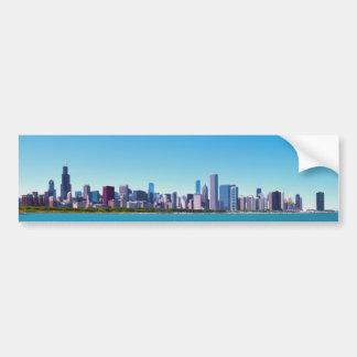 City of Chicago, Illinois Skyline Panorama Bumper Sticker