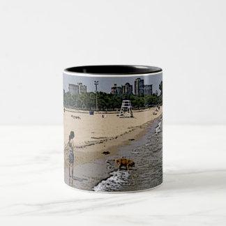 City of Chicago & Lake Michigan Two-Tone Coffee Mug