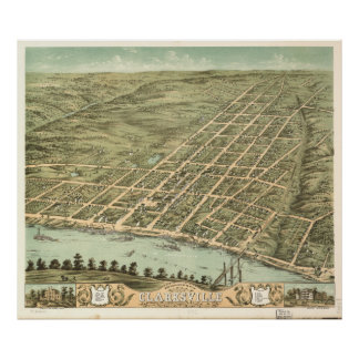City of Clarksville Tennessee (1870) Poster