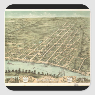 City of Clarksville Tennessee (1870) Square Sticker