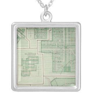City of Columbus, Bartholomew Co with Greensburg Square Pendant Necklace