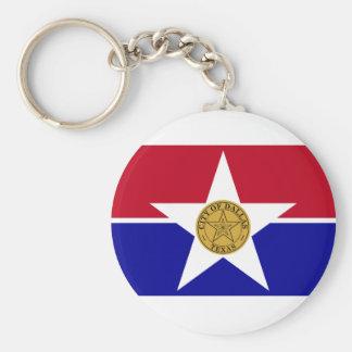 City Of Dallas Flag Basic Round Button Keychain