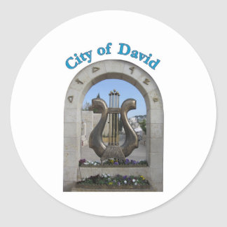 City of David in Jerusalem, Israel Round Sticker