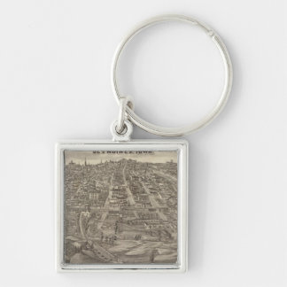 City of DesMoines from South Park Hill Silver-Colored Square Keychain