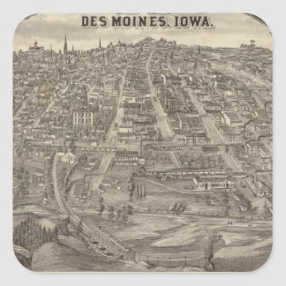City of DesMoines from South Park Hill Square Sticker