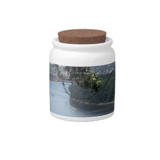 City of Dubuque, Iowa on the Mississippi River Candy Jars