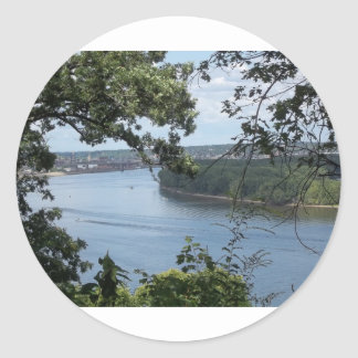 City of Dubuque, Iowa on the Mississippi River Classic Round Sticker