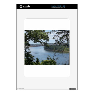 City of Dubuque, Iowa on the Mississippi River Decal For iPad