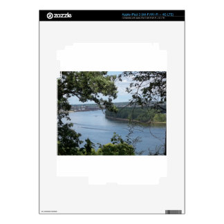 City of Dubuque, Iowa on the Mississippi River Decal For iPad 3