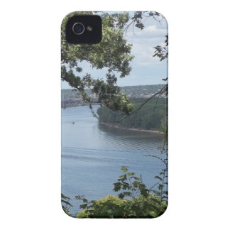 City of Dubuque, Iowa on the Mississippi River iPhone 4 Cover