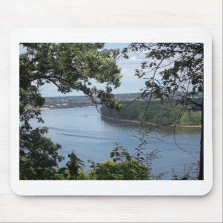 City of Dubuque, Iowa on the Mississippi River Mouse Pad