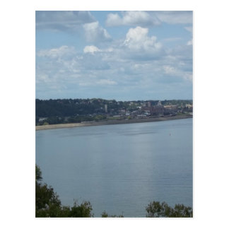 City of Dubuque Iowa on the Mississippi River Postcard
