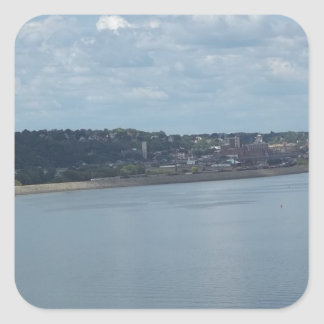 City of Dubuque Iowa on the Mississippi River Square Sticker