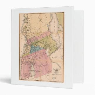 City of Fall River Massachusetts Map (1878) Binder