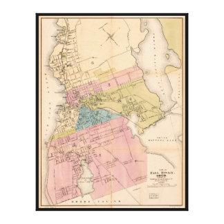City of Fall River Massachusetts Map (1878) Canvas Print