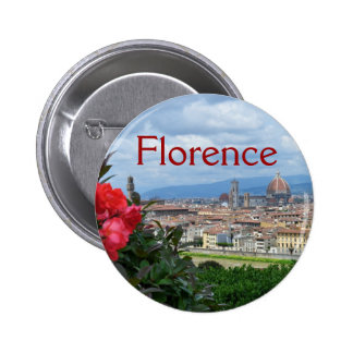 City of Florence, Italy Pinback Buttons