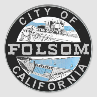 City of Folsom graphic logo: Graphic version Classic Round Sticker